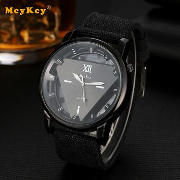Mcykcy Fashion Sports Watch Quartz Outdoor Business Black Wristwatch Clock Casual for Men Luxury Star Men Watches Gift MY026