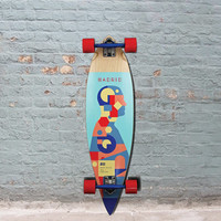 Madrid Pintail Pie Chart Longboard - 36""