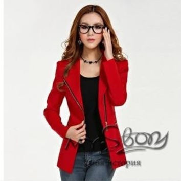 blazer women ladies coat jackets jaqueta feminino blaser chaquetas mujer veste femme woman clothes zipper slim suits = 1929555204