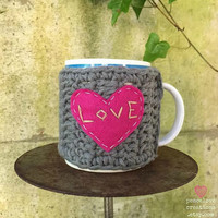 Crochet Coffee Cup Cozy~Ready To Ship~FREE SHIPPING