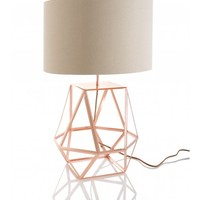Grady Facet Table Lamp, Copper