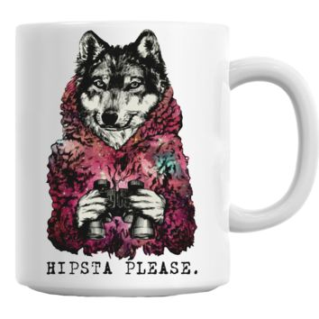 Wolf Hipsta Please Mug