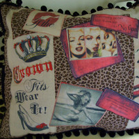 Marilyn Monroe Novelty throw pillow by DawnsGardenGate on Etsy