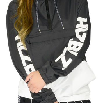 The Bad Gyal Nylon Pullover Jacket in Black