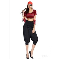 New Sexy Women Halloween Sailor Corsair Costumes Pirate Captain Role play Cosplay masked ball Stage performance Masquerade dress