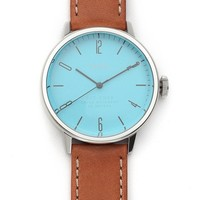 Stainless Steel & Blue 38MM Watch