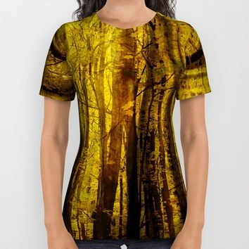 Forest Fuzz All Over Print Shirt by Claude Gariepy