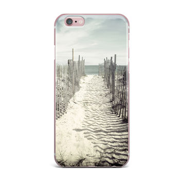 "Jillian Audrey ""Welcome to the Beach"" Brown Gray iPhone Case"