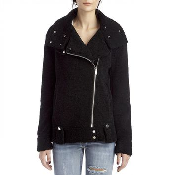 Blanknyc Black Teddy Bear Moto Jacket