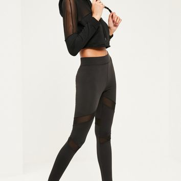 Missguided - ACTIVE MESH PANEL GYM LEGGINGS