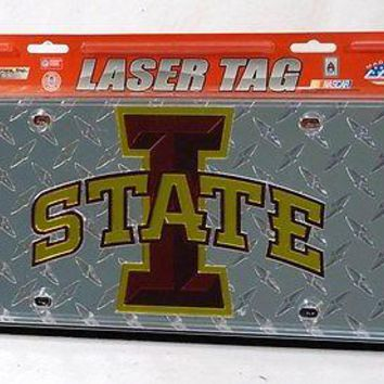 Iowa State Cyclones NCAA Laser Cut Diamond Plate License