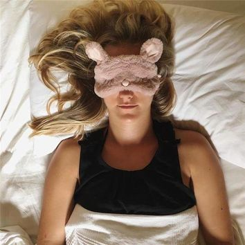 ESBONN Oysho Cute Pink Bear sleeping eyeshade