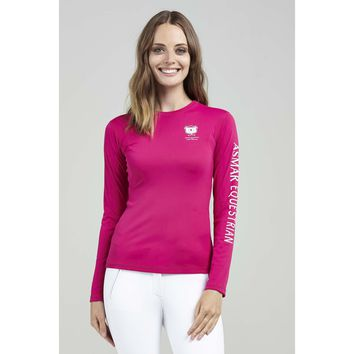 Asmar Long Sleeve T Hot Pink