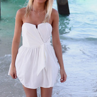 Summer Nights Mini White Tube Top Party Dress