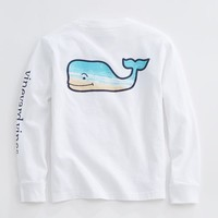 Boys Long-Sleeve Whale Beach Pocket T-Shirt