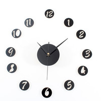 Diy Stylish Creative Set Wall Sticker Clock [6057116865]