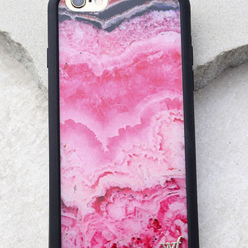 Wildflower Stone Pink Marbled iPhone 6 and 6s Case