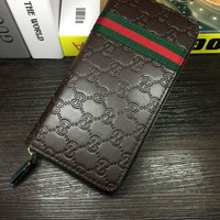 THE GUCCI Long Zipper Shopping Women Leather Purse Wallet H-MYJSY-BB