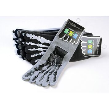 Punk 3D Print Terror Skeleton Toe Socks