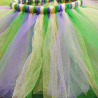 Laissez Les Bons Temps Rouler. Mardi Gras Style Girls' Tutu in Emerald, Violet, and Gold