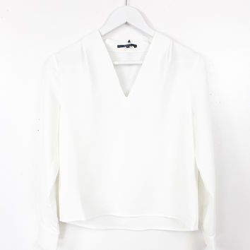 Wendy Pleated Collar Top