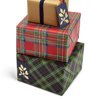 Joyeux Noel Tartan Christmas Wrap Pack | M&S