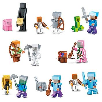 8pcs star wars superhero figures  marvel building blocks  model bricks Baby toys for children juguetes