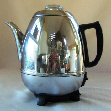 Vintage GE Pot Bellied Percolator General Electric Pot Belly Kettle