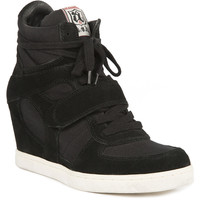 Cool Wedge Sneaker - Suede/Canvas