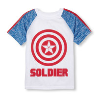 Boys Short Sleeve Captain America 'Soldier' Shield Graphic Tee | The Children's Place