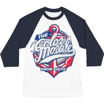 Color Morale Men's  Know Hope Anchor Baseball Jersey White Rockabilia