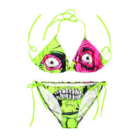 New Arrival Womens Funny Bikinis Set Women Padded Crop Top Halloween Bikini Tank Brazilian Swimwear Bathing suit Swimsuits