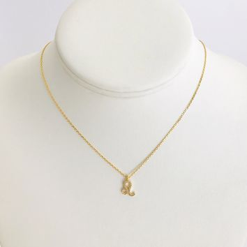Leo Zodiac Necklace In Gold