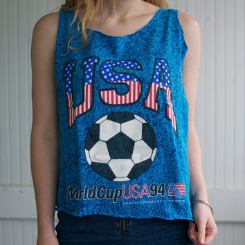 Vintage 90s World Cup Soccer Tank - M/L