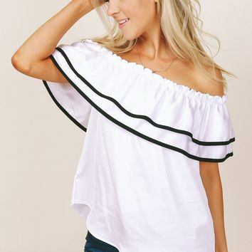 Havana Cabana Off the Shoulder Top White