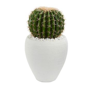 Artificial Plant -Cactus Plant with White Planter