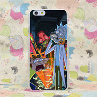 Rick And Morty Phone Case For iPhone 4 4s 5 5s SE 5C 6 6s Plus