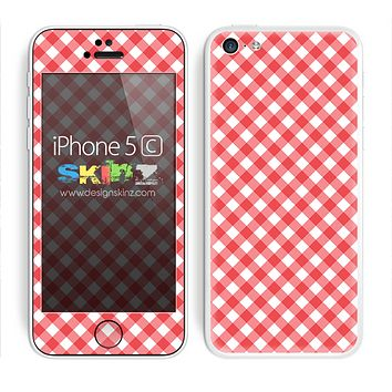 Red and White Picnic Plaid Skin For The iPhone 5c