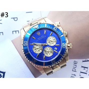ROLEX street fashion men and women models three-eye high-grade waterproof quartz watch #3
