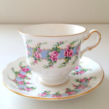 English Queen Anne Tea Cup & Saucer Fine Bone China Mother's Day Gift Inspiration