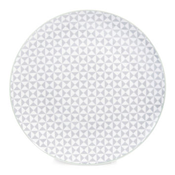 GEOMETRIK porcelain dinner plate in grey D 27cm | Maisons du Monde