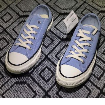 LMFUG7 Converse' Fashion Canvas Flats Sneakers Sport Shoes Low top Light blue