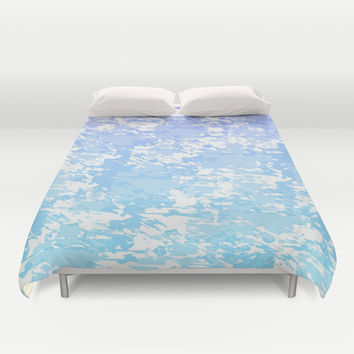 Purple and Blue Print Duvet Cover by KCavender Designs