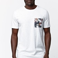 On The Byas Pineapple Pocket Crew T-Shirt - Mens Tee - White