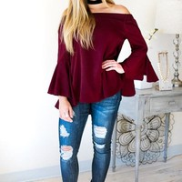 With A Hint Of Shimmer Off The Shoulder Top