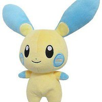 "Sanei PP70 Pokemon All Star Collection Minun 6.5"" Stuffed Plush Authentic USA"