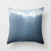 majestic mountains Throw Pillow by Marianna Tankelevich