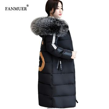 2017 new arrival winter coats women ladies coats plus size 6XL winter jacket Warm Long Sleeve Ladies Basic Coat parkas
