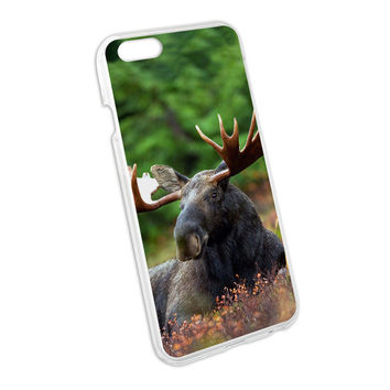 Moose Male Bull Antlers Snap On Hard Protective Case for Apple iPhone 6