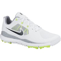 Nike Men's Closeout TW14 Mesh Spikeless Golf Shoes - White/Volt/Wolf Grey/Black